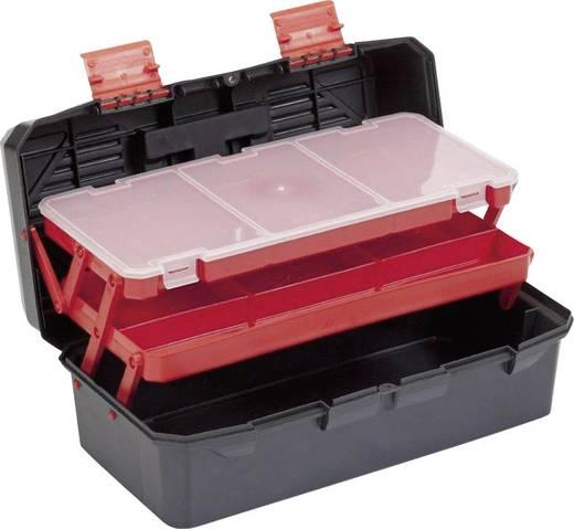 Műanyag szerszámos láda, szerszámos koffer, többrekeszes, többfiókos Alutec 56300