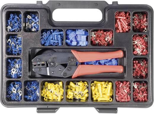 Krimpelőfogó készlet kábelsarukkal 1004 részes 1.72 - 8.2 mm Toolcraft 820927