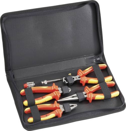 VDE szerszámkészlet, szigetelt villanyszerelő fogó készlet 4 részes Toolcraft 821033