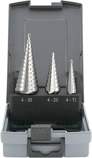 HSS fokozatfúró készlet 3 részes, Toolcraft 821395