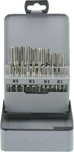 Kézi menetfúró készlet 21 részes HSS M3 x M12 menethez Toolcraft 821396