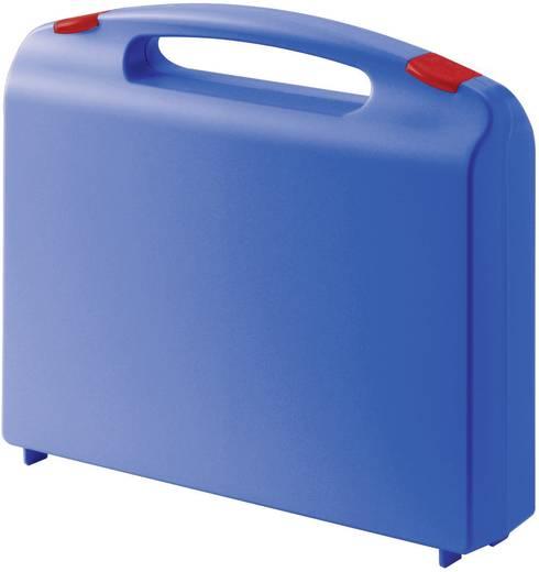 Müanyag koffer, műszerkoffer hullámos habszivacs betéttel, 340 x 310 x 80 mm