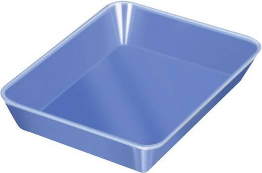 1 részes alkatrésztároló tál, kék, 210 x 150 x 40 mm