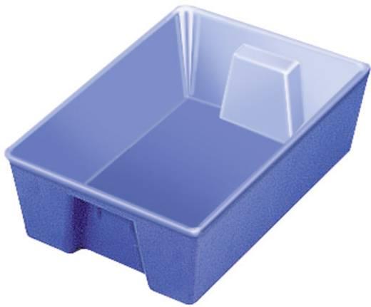 1 részes alkatrésztároló tál, kék, 190 x 120 x 50 mm