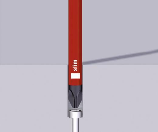 Wiha VDE cserélhető szigetelt szárú egyenes pengéjű lapos és PZ kereszthornyú csavarhúzó készlet