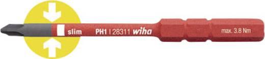 Wiha VDE PH 1 cserélhető kerszthornyú, csillagcsavarhúzó szár