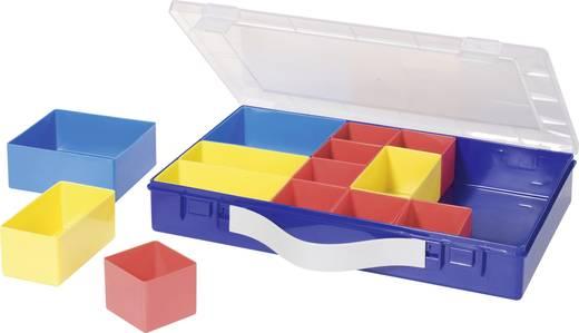 Alutec 14 részes alkatrésztároló doboz, 332 x 232 x 55 mm