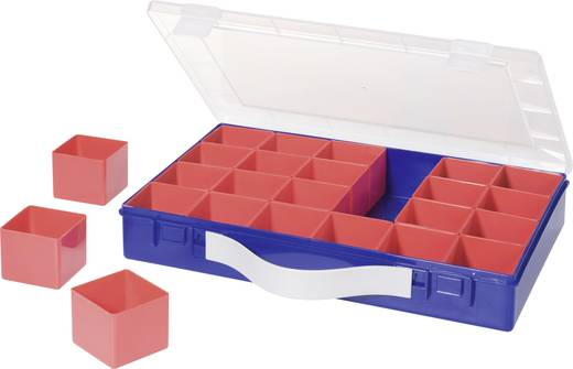 Alutec 24 részes alkatrésztároló doboz, 332 x 232 x 55 mm, 600900