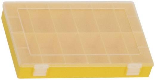 Alutec 12 részes alkatrésztároló doboz, átlátszó/sárga, 335 x 225 x 55 mm