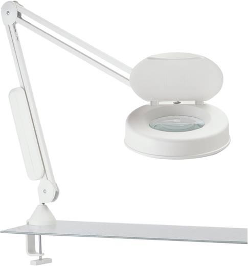 Nagyítós lámpa, körfénycsöves, hajlítható rugós karos asztali nagyító 22W-os 3 dioptriás LUXO LFM 101