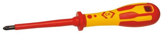 VDE Kereszthornyú csavarhúzó C.K. PZ 2 Penge hossz: 100 mm VDE 0682-201,DIN ISO 8764,DIN EN 60900