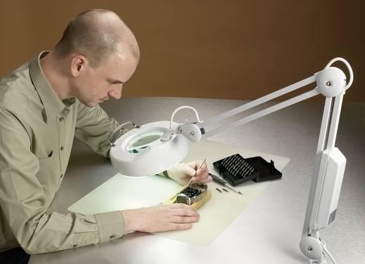 Körfénycsöves nagyítós lámpa, asztallaphoz rögzíthető, hajlítható, rugós karos asztali nagyító 22W/230V TOOLCRAFT