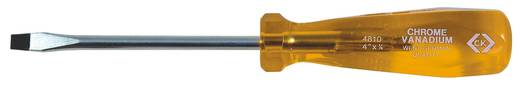 Egyenes pengéjű króm-vanádium csavarhúzó, pengeszélesség: 5 mm, penge hossz: 75 mm DIN 5264,DIN ISO 2380-2 C.K. T4810 03
