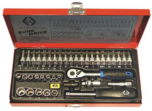 C.K. Dugókulcs készlet 39 részes. 1/4, fém dobozban T4655
