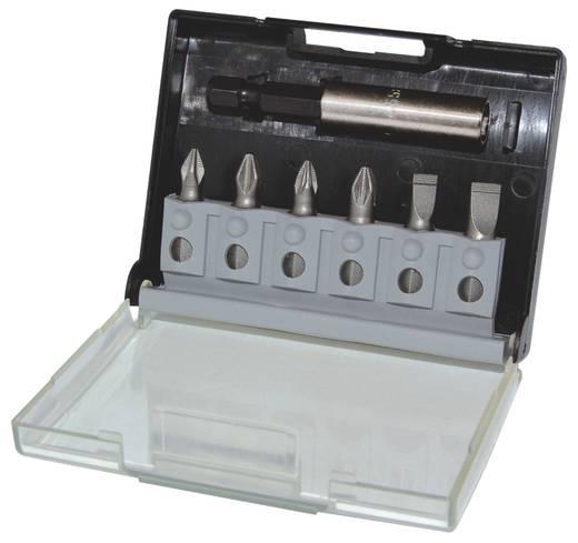 Króm-vanádium acél 7 részes BIT készlet, Egyeneshornyú, kereszthornyú PH, PZ C.K. T4583C