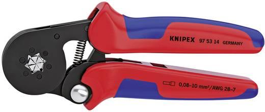 Önbeállító krimpelő fogók érvéghüvelyekhez oldalsó bevezetéssel, Knipex 97 53 14