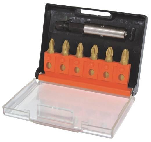 TIN bevonatos króm-vanádium acél 6 részes BIT készlet, kereszthornyú, PZ C.K. T4569TINC