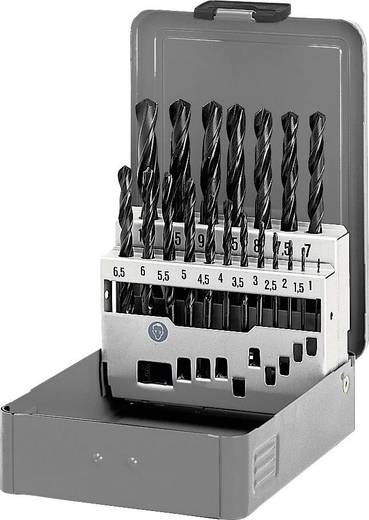 Acél spirálfúró készlet 19 részes, HSS R DIN338 RN Toolcraft 822603