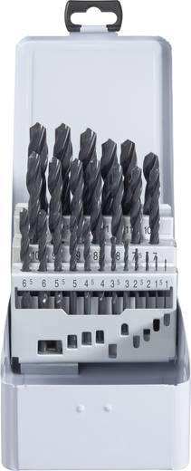 Acél spirálfúró készlet 25 részes, HSS R DIN338 RN Toolcraft 822604
