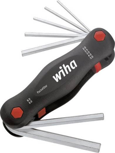 Hatszögkulcs készlet, 7 részes marokcsavarhúzó készlet 2 -8 mm-ig Wiha SB351PG7 23041