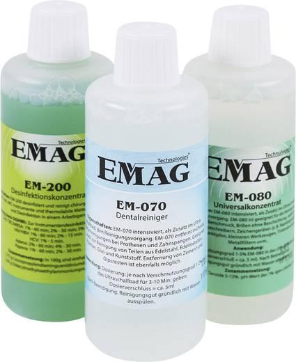 Ultrahangos tisztító folyadék készlet, 3x100 ml fogprotézistisztító, fertőtlenítő, általános tisztító koncentrátum Emag