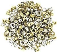 Csőszegecs, bőrszegecs, lyukasztó karika lyukasztó fogókhoz, vas nikkelezett 4.5 mm 100 db-os készlet NWS 151E-4,5-1 (151E-4,5-1) NWS