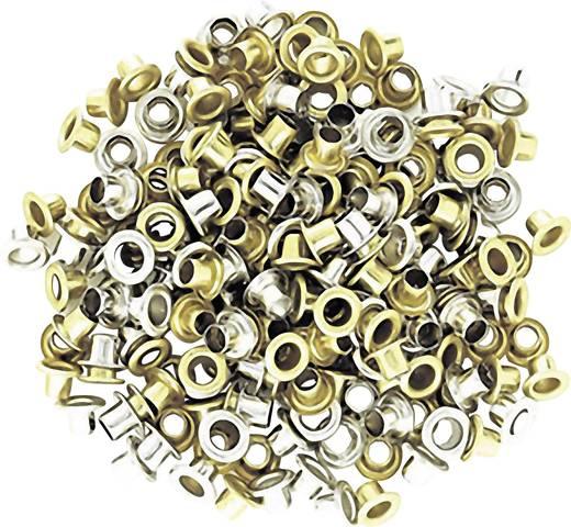 Csőszegecs, bőrszegecs, lyukasztó karika lyukasztó fogókhoz, vas nikkelezett 5 mm 100 db-os készlet NWS 151E-5,0-1