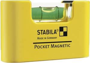 Mágneses zsebvízmérték, mini vízmérték 7 cm-es 1 mm/m Stabila POCKET MAGNETIC 17774 Stabila