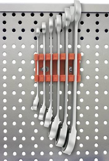 Átkapcsolható villás-/racsnis kulcssorozat, 8 - 19 mm, 6 részes TOOLCRAFT 824124 Kulcstávolság 8/10/13/15/17/19 mm