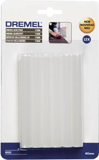 Dremel 2615GG11JA 12db-os átlátszó műanyag ragasztóstift, ragasztópálca készlet 11 mm