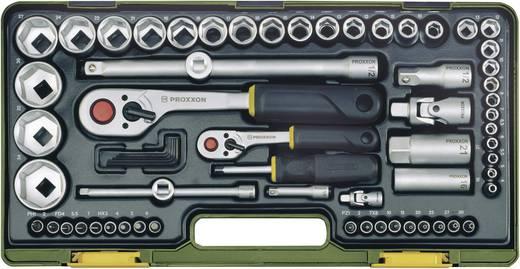 Proxxon 23286 Racsnis szerszámkészlet, Krova BIT készlet 65 részes 6,3 mm (1/4) és 12,5mm (1/2)
