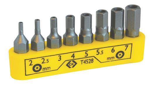 C.K. T4528 Csavarhúzó bits készlet 8 részes, hatlap furattal, 2; 2.5; 3; 4; 5; 5.5; 6; 7 mm