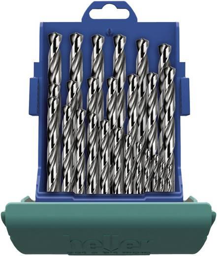HSS spirálfúró készlet, 19 részes, DIN 338, Heller 21961 7