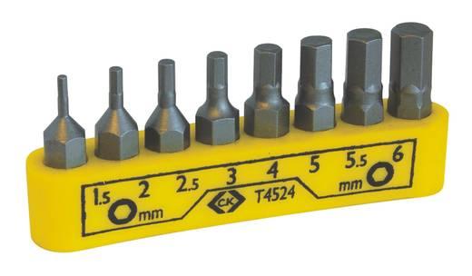C.K. T4524 Csavarhúzó bit készlet 8 részes, hatlap 1.5, 2, 2.5, 3, 4, 5, 5.5, 6 mm
