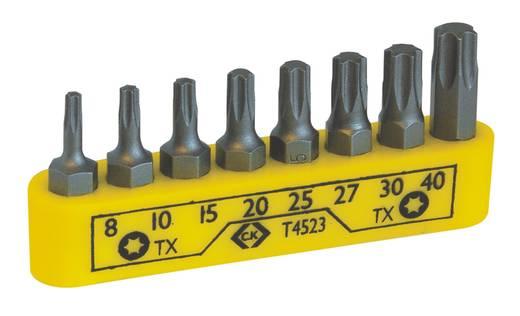 C.K. T4523 Csavarhúzó bit készlet 8 részes, Torx csavarokhoz, T8; 10; 15; 20; 25; 27; 30; 40