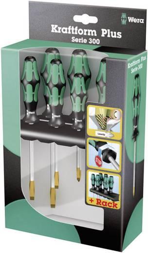 Műhely csavarhúzó készlet 6 részes, laposfejű és kereszthornyú Philips pengékkel Wera 334 SK/6