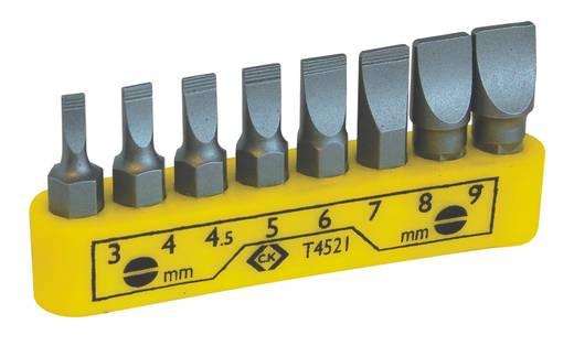 C.K. T4521 Csavarhúzó bit készlet 8 részes egyenespengéjű, 3; 4; 4.5; 5; 6; 7; 8; 9 mm