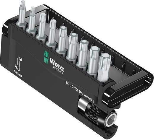 Edzett, ötvözött szerszámacél 10 részes Torx BIT készlet Wera 8167-9 TORX®/TZ Bit-Check 05056164001