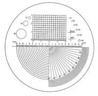 Nagyító lencse, skálázott mérőlencse 23mm Eschenbach 11547 nagyítóhoz 115202 (115202) Eschenbach