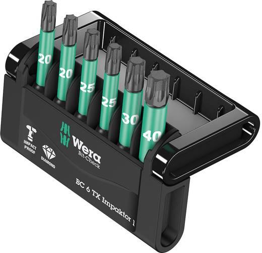 Gyémántbevonatos ötvözött szerszámacél Impaktor Torx BIT készlet, 6 részes Wera Mini-Check Impaktor 2 05057693001