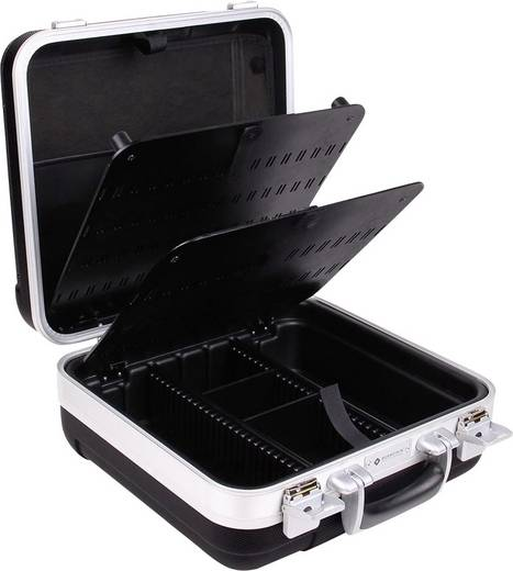 Elektronikai szervizkoffer, üres, 340 x 180 x 360 mm, műanyag alu kerettel, Bernstein Handy 1515