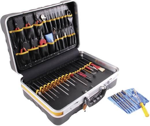 Elektronikai szervizkoffer, üres, 460 x 170 x 350 mm, műanyag eloxált alu kerettel, Bernstein PC-Contact 6115