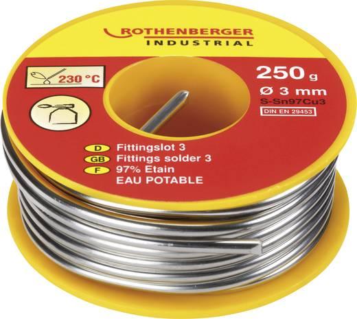 Cső forrasztó anyag, 250 g, Ø 3 mm, S-Sn97Cu3, Rothenberger 4.5255
