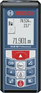 """Bosch Professional GLM 80 Lézeres távolságmérő Kalibrált (ISO) Lítiumion akku, Állványadapter, 6,3 mm (1/4"""") Mérési tart Bosch Professional"""