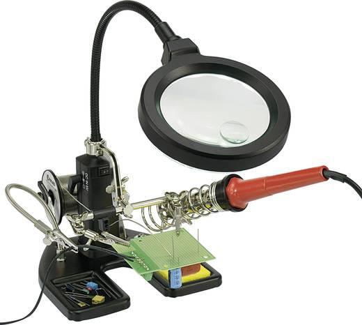 LED-es nagyítós lámpa csipesszel, 2X, 4X (3,5/11,8 dioptria) lencse Ø: 95/25 mm, Toolcraft