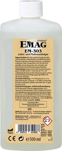 Ultrahangos tisztító folyadék, nyáklaptisztító koncentrátum 0,5 l, Emag EM303