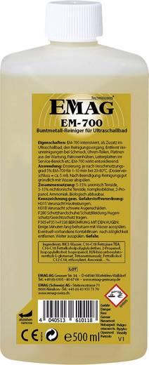 Ultrahangos tisztító folyadék, oxidáció mentesítő anyag színesfémekhez, 0,5 l, Emag EM700 16016