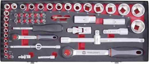 Dugókulcs készlet, 6,3 és 12,5 mm (1/4 és 1/2) TOOLCRAFT, 55 részes