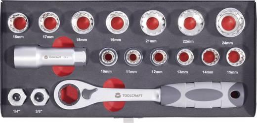 Racsnis dugókulcs készlet, krova készlet 17 részes Toolcraft