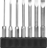 7 részes mini bit szortiment, egyenes pengéjű hosszú kivitel, 1-4 mm/45 mm, Donau MBS70 Donau Elektronik